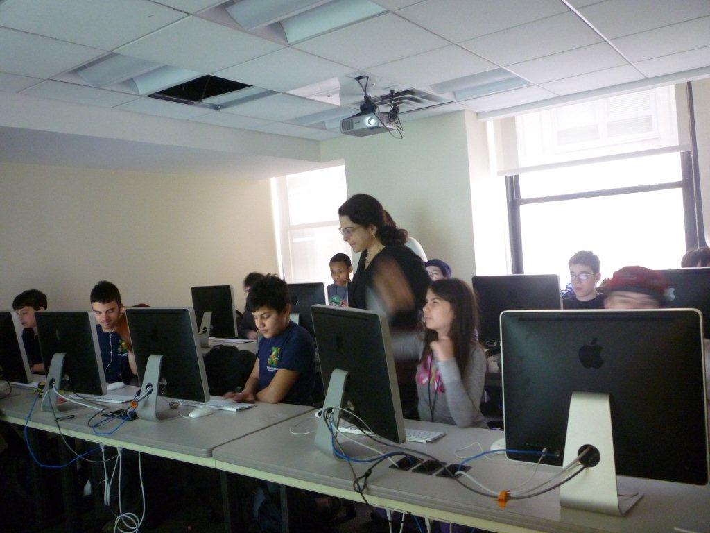 Beth and her students at TechKids Unlimited